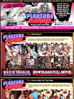 Pleasure Classics offers you to take a ride on their Porn Time Machine for the hottest classics from the 60&#146;s 70&#146;s and 80&#146;s 100% Classic Retro Sex. Hairy muffs, stockings, tan lines, spandex and lingerie - all the stuff that makes Classic Porn what it is. Check out Pleasure Classics now!